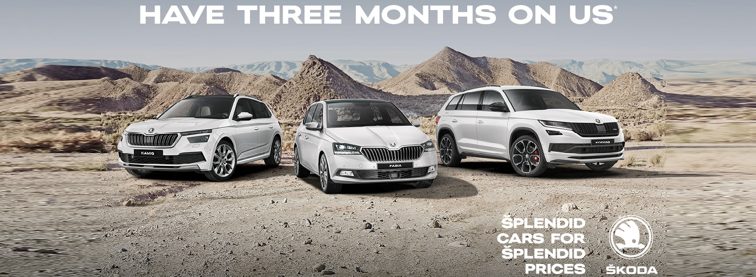 3 Months on Us SKODA Offers